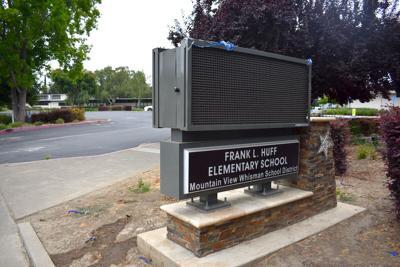 Huff school sign