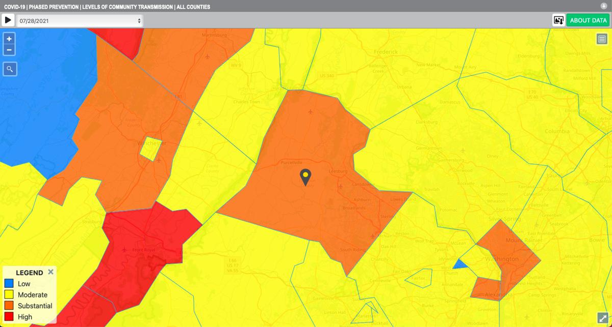 Loudoun County's COVID-19 Transmission Tracker | July 28, 2021