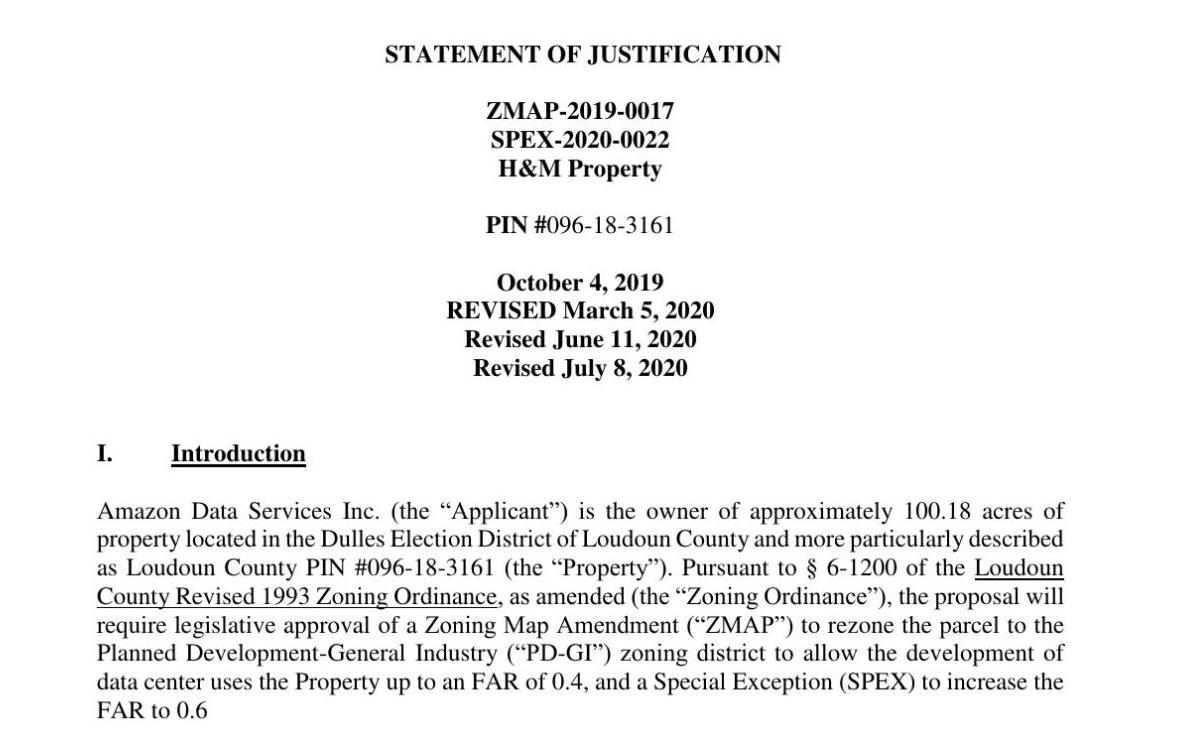 Statement of Justification ZMAP-2019-0017 | July 8, 2020
