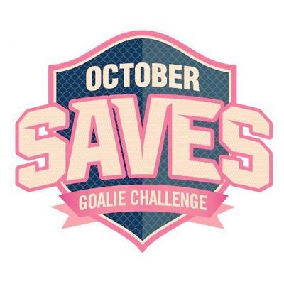 October Saves Goalie Challenge logo