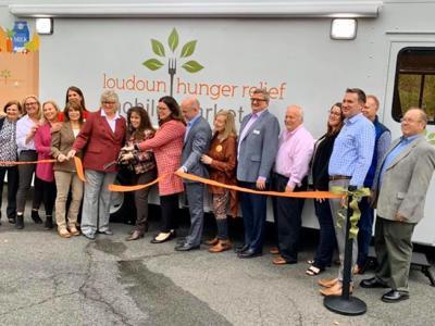 Loudoun Hunger Relief Mobile Market ribbon-cutting