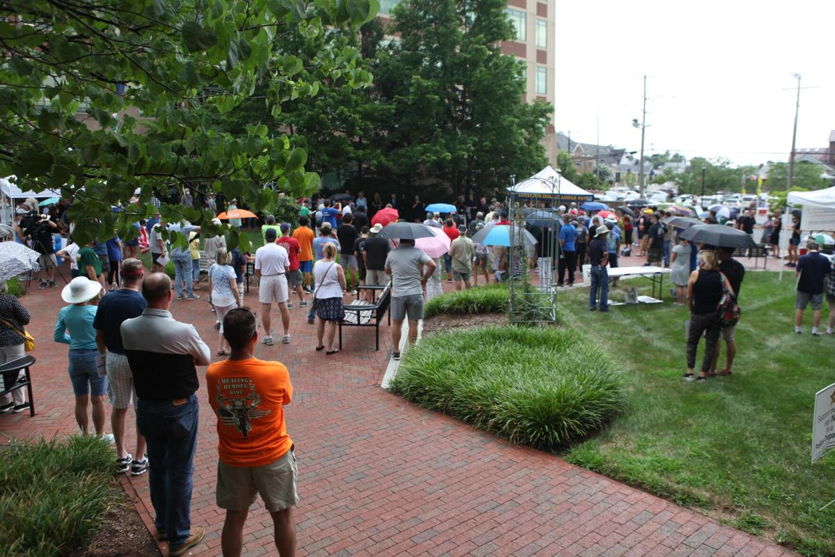 Rally for Loudoun County Sheriff's Office   Crowd 3