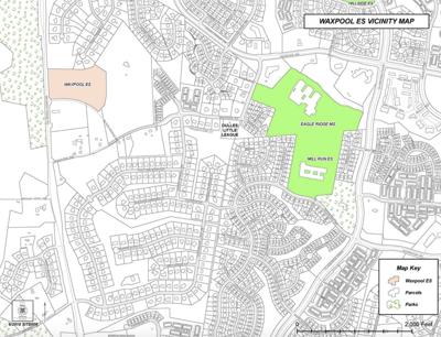 Waxpool Elementary vicinity map