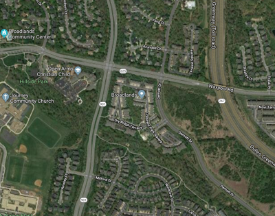 21700 block Crescent Park Drive aerial