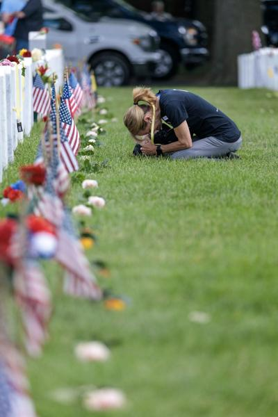 Grieving Woman and Arlington National Cemetery