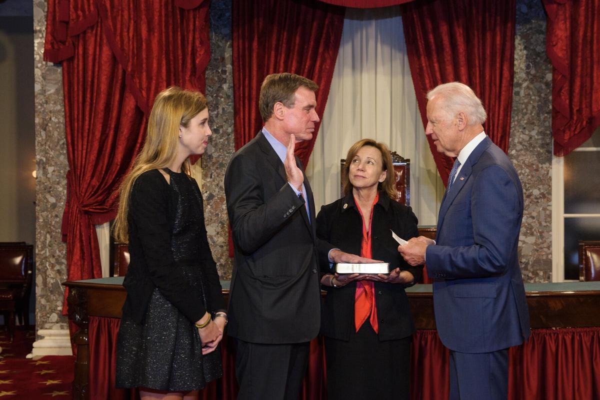 Senate Swearing In   Warner, Biden