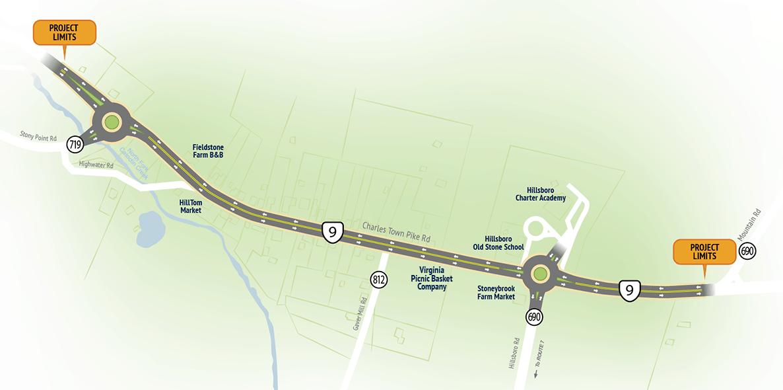 Hillsboro Traffic Calming Project Map