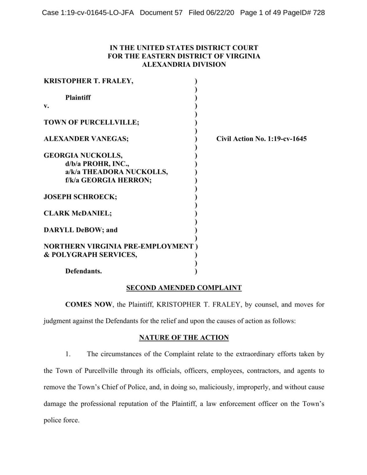 Amended Fraley complaint