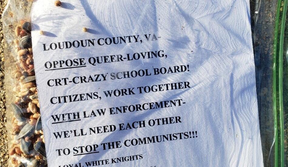 KKK Fliers Attacking Critical Race Theory Found in Virginia Neighborhoods