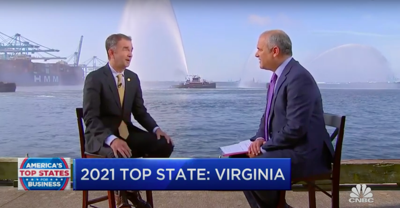 Virginia 2021 Top State For Business