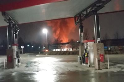 Barn catches fire, explodes in Sterling