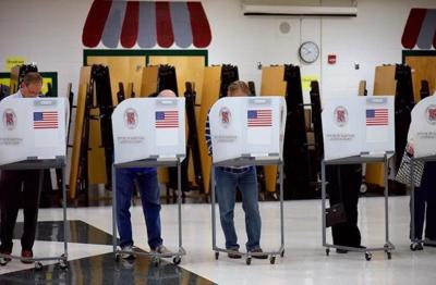 Voters cast ballots in Loudoun County