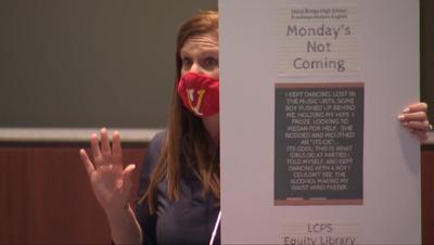 Patti Menders, School Board metting