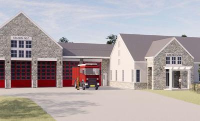 Aldie Fire Station Rendering Preliminary Design 1