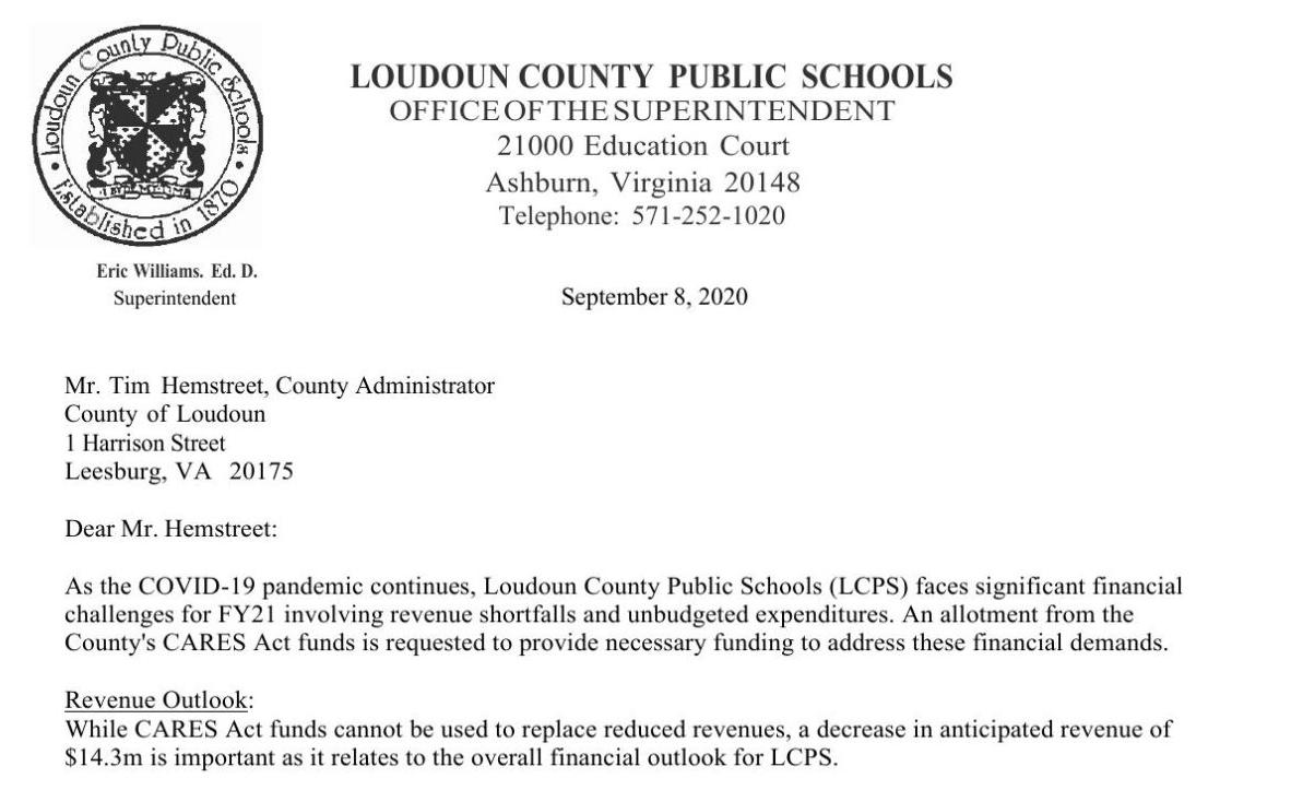 County document: CARES Act Funding, Second Allocation – LCPS