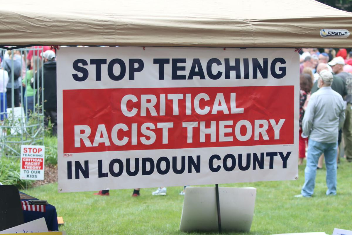 Critical Race Theory Rally in Leesburg | Sign 1