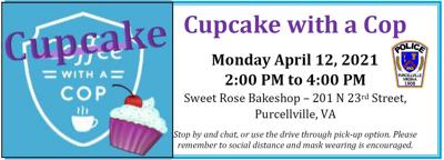 Cupcake with a Cop graphic