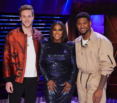 Ryan Cam w/ Ester Dean and Usher
