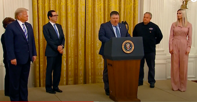 Loudoun County restaurant owner speaks at the White House about the success of the PPP loan