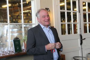 Kaine, Wexton tour Catoctin Creek Distillery's newly-upgraded production facility