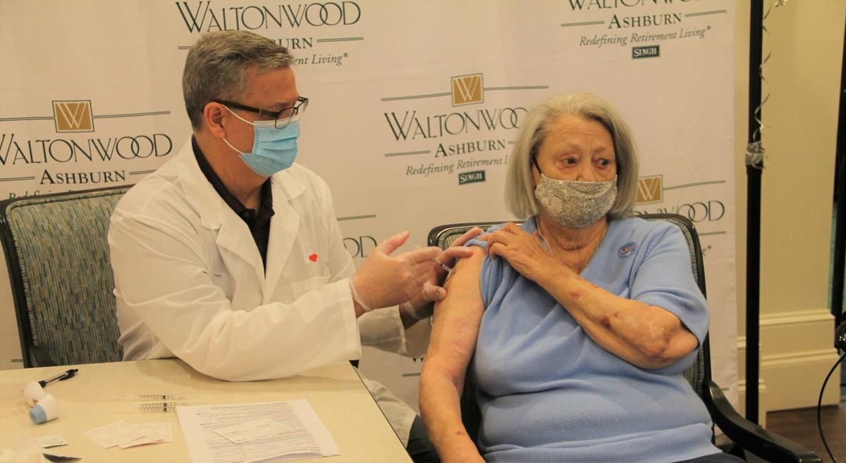 Waltonwood residents receive first dose of COVID-19 vaccine