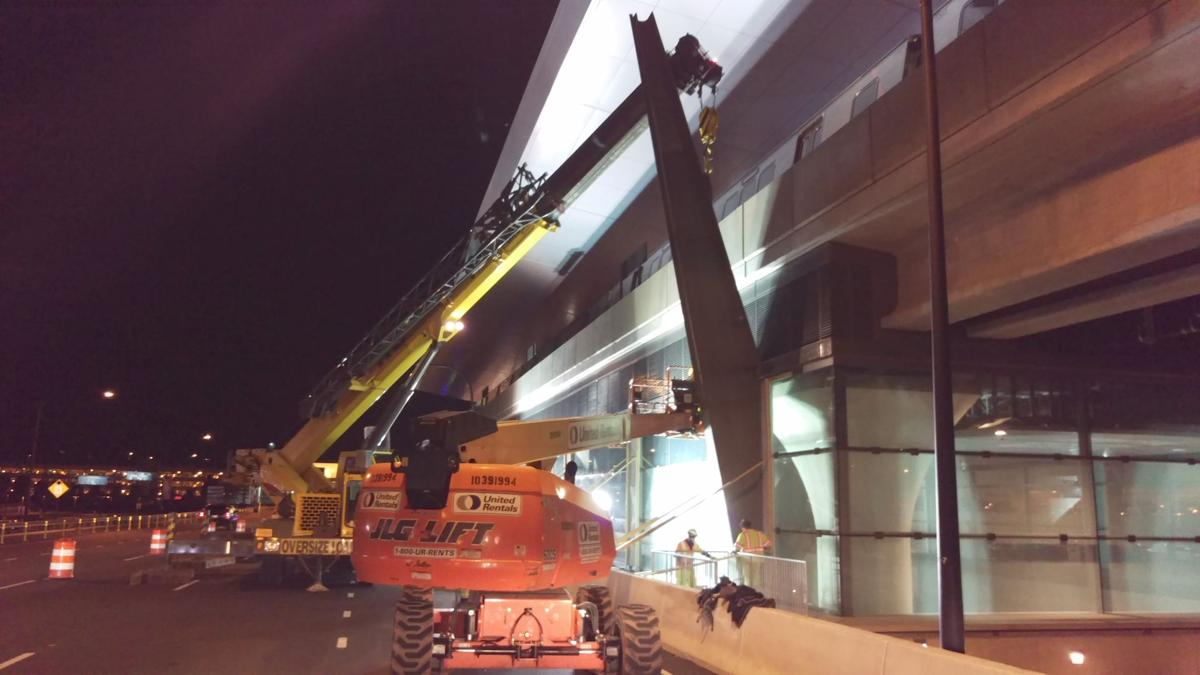 Dulles Corridor Metrorail Project | Purlins for the windscreen