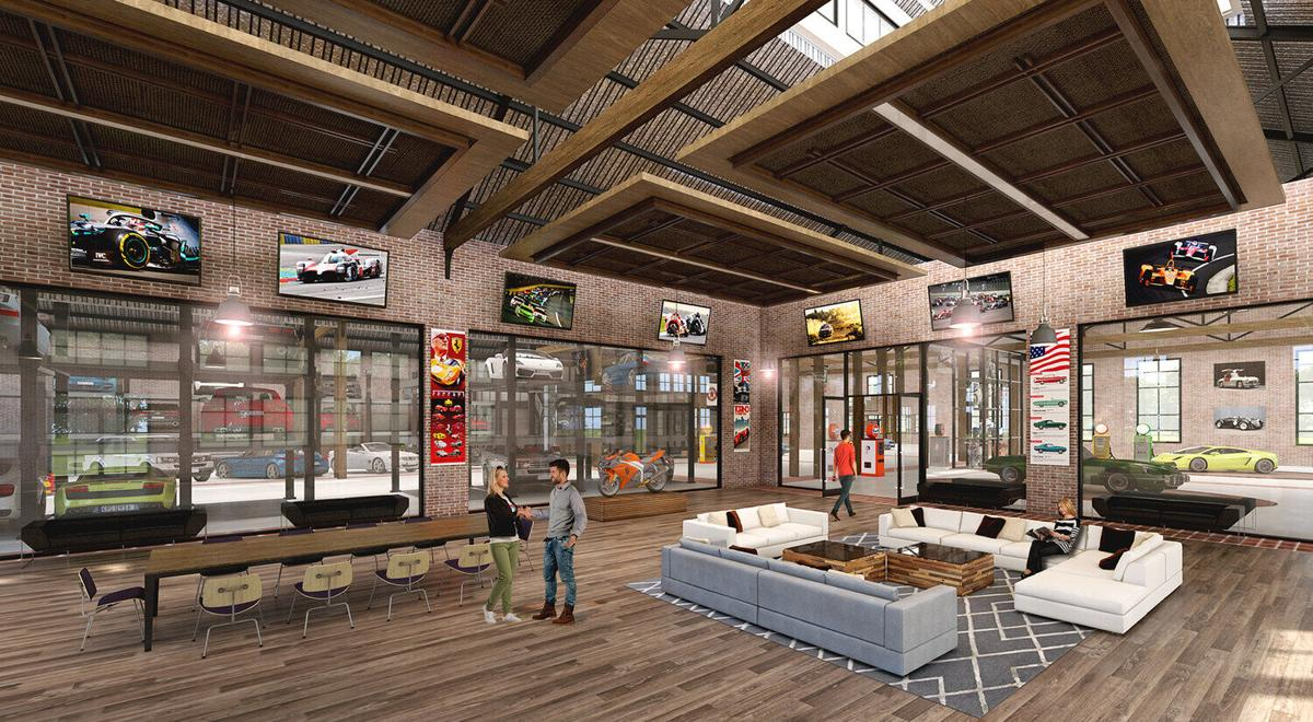 Rendering Gas Haus Car Bar and Auto Lounge Social Club