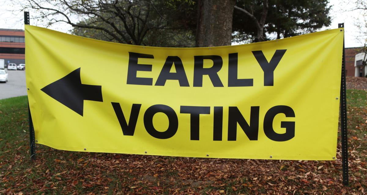 Vote   Early Voting Sign in Leesburg