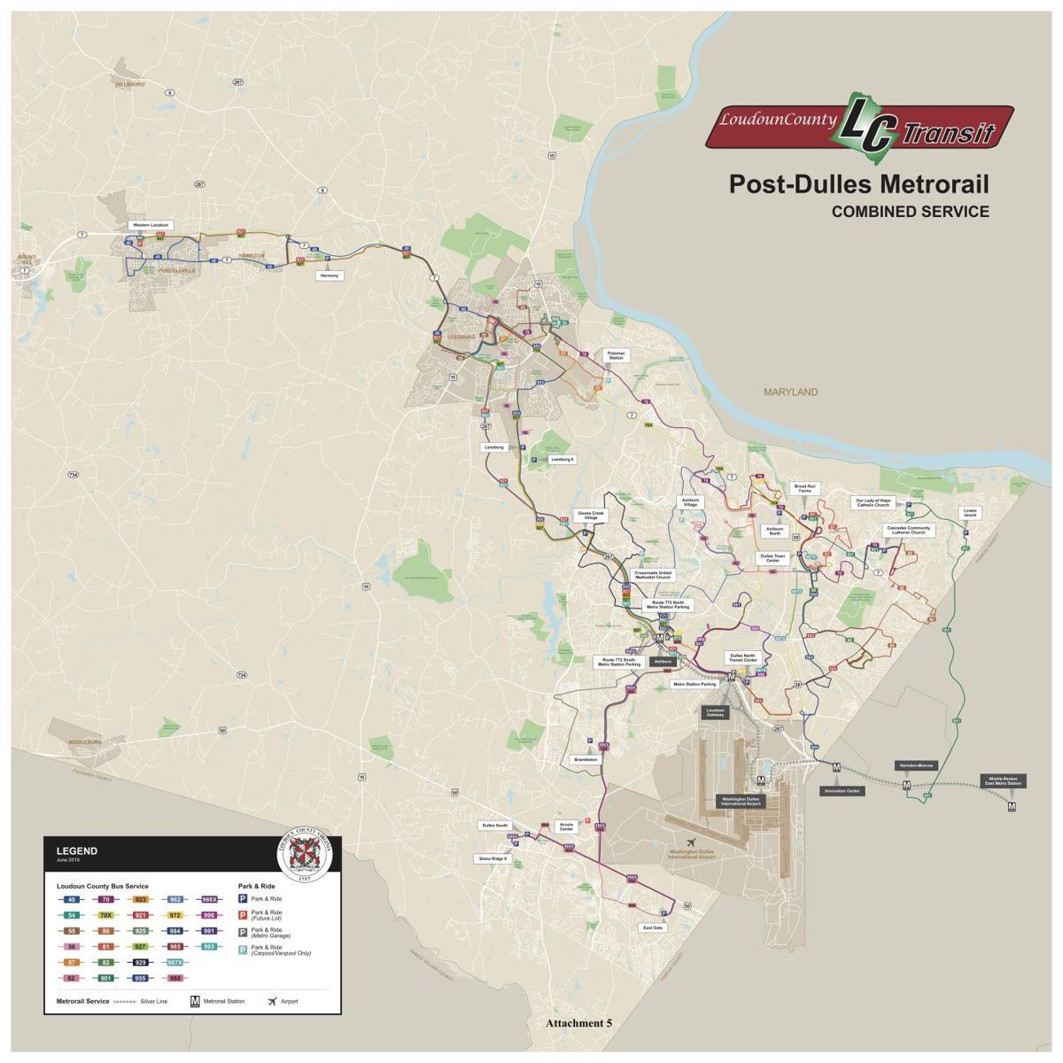 Loudoun County | Post-Dulles Metrorail Combined Service model