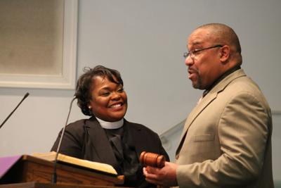 Pastor Michelle Thomas receives NAACP gavel