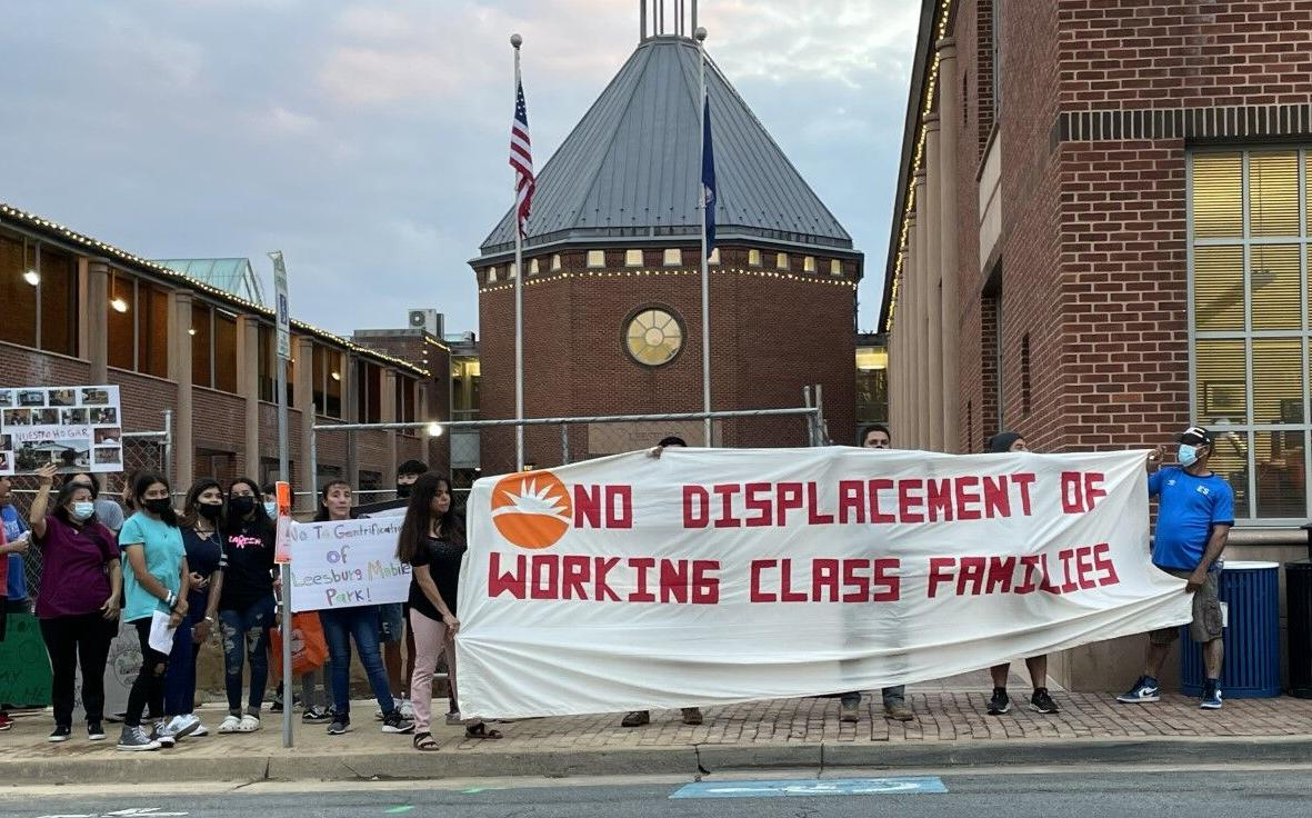 Leesburg Mobile Park protest