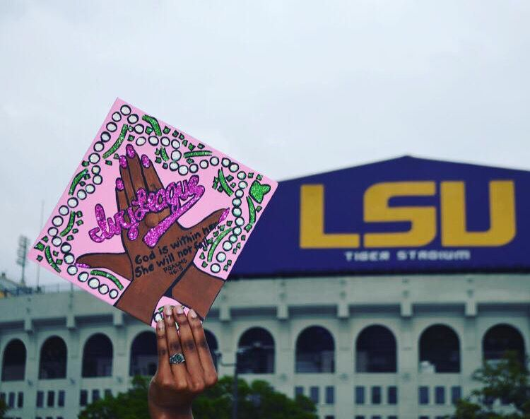 lsu student creates personalized graduation caps the daily