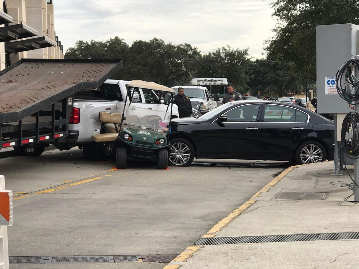 Two LSU Football Operations Students Workers were struck by a car and rushed to the hospital
