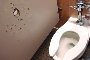 Gloryhole toilet gay sex