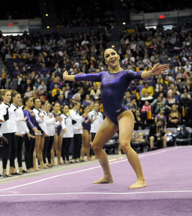LSU gymnastics defeats Iowa in season opener | Sports ...