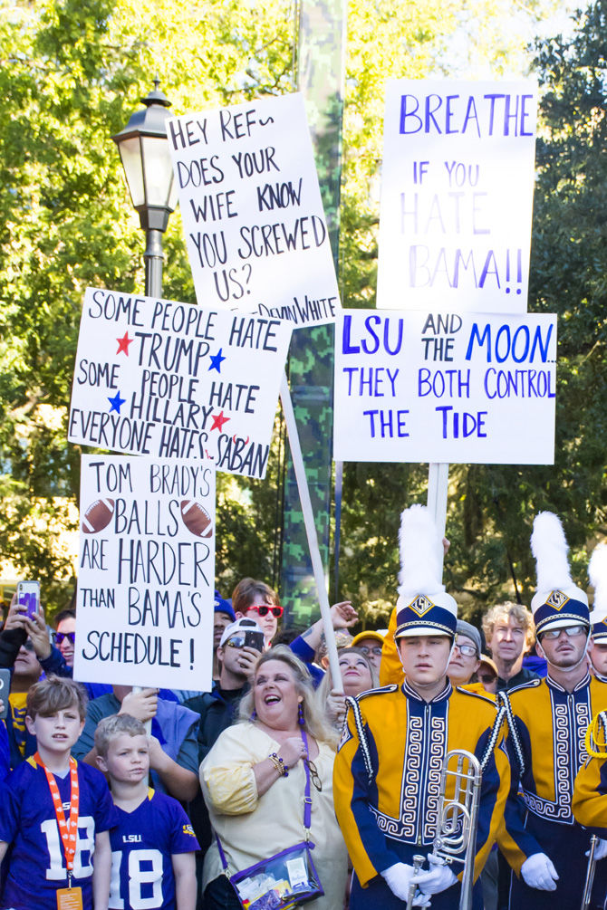 BAMA Hate Signs
