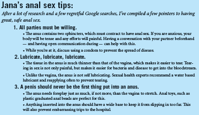 Tips to anal sex