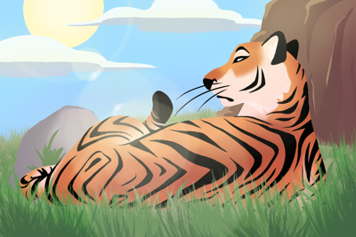 Mike the Tiger cartoon