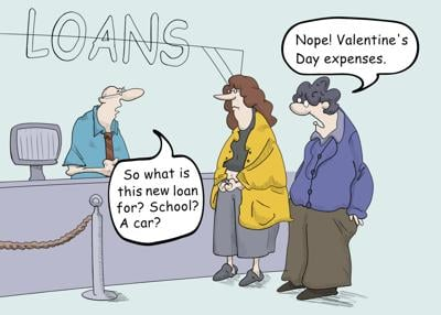 The price of Valentine's Day expenses