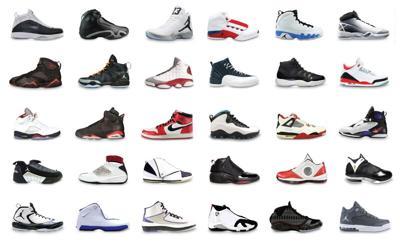 Every pair of Air Jordans, ever.