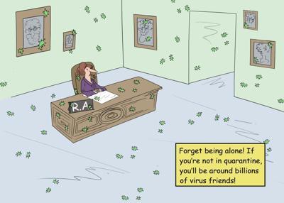 RA virus cartoon