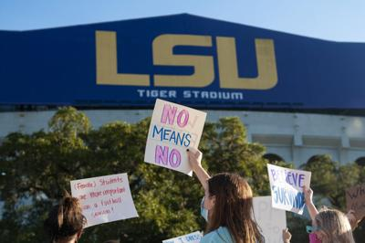 LSU sexual assault victims publicly identify themselves, call for resignations of Title IX officials