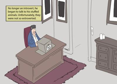 Introvert/extrovert cartoon