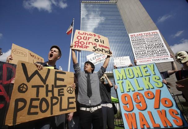 protest, Federal Reserve Bank, Dallas