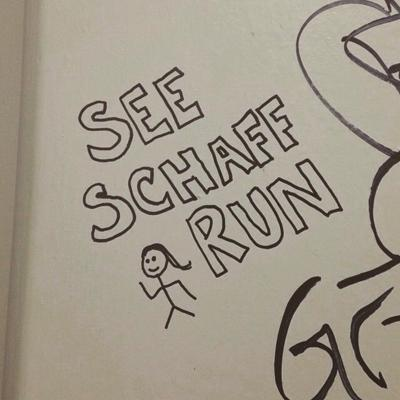 See Schaff Run's autograph in KLSU's live room
