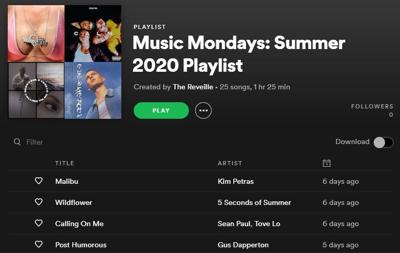 Music Mondays: Summer 2020 Playlist