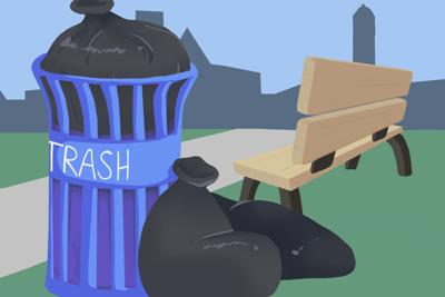Trash cartoon