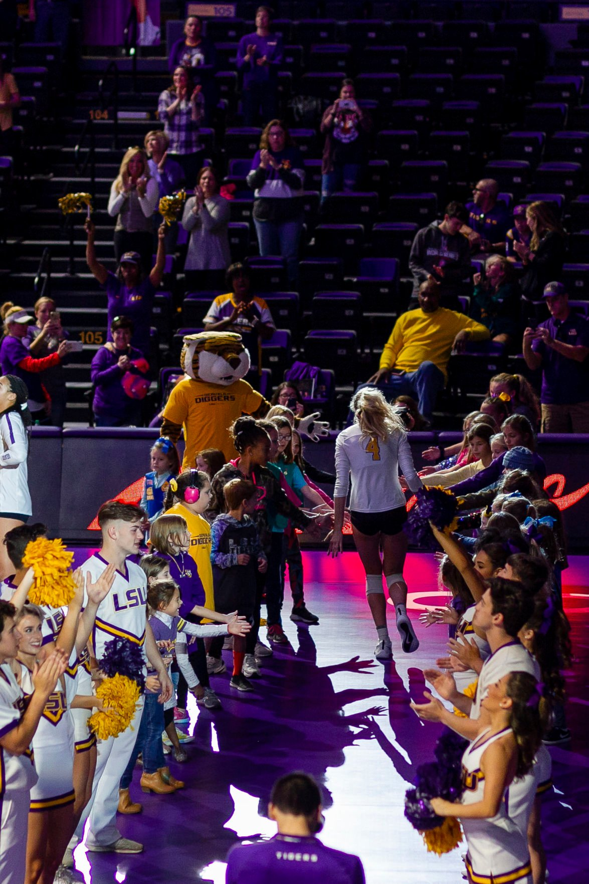 LSU Volleyball defeats Mississippi State