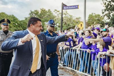 PHOTOS: LSU Walks Down Victory Hill