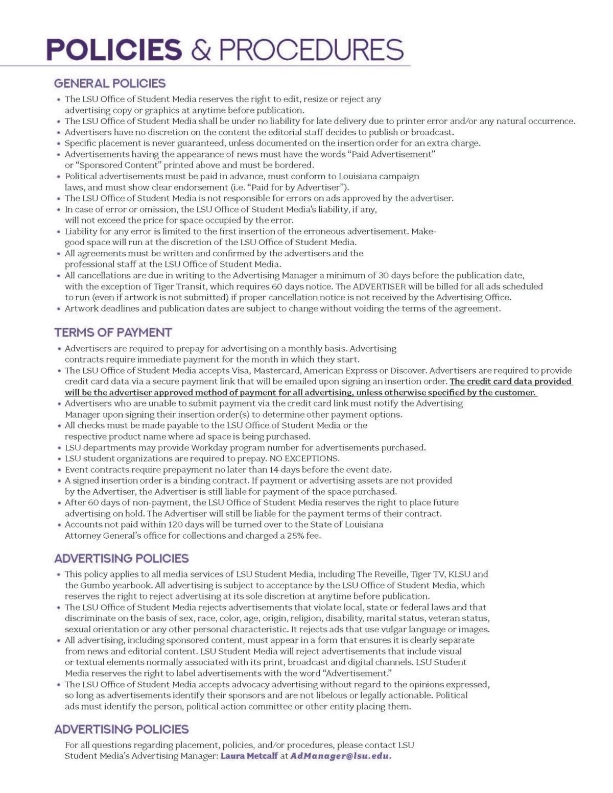 Policies & Procedures 2021- 2022